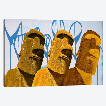 Maoi Graffiti Art Canvas Print #ICA360} by Unknown Artist Art Print