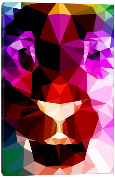 Lion Polygon Art Canvas Print #ICA366