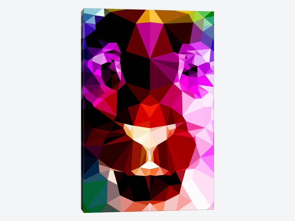 Lion Polygon Art by Unknown Artist 1-piece Canvas Art