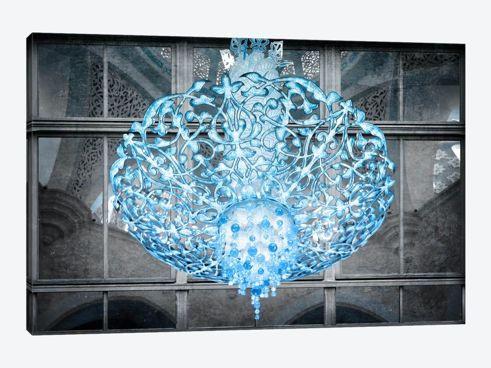 Ice Chandelier by Unknown Artist 1-piece Canvas Art