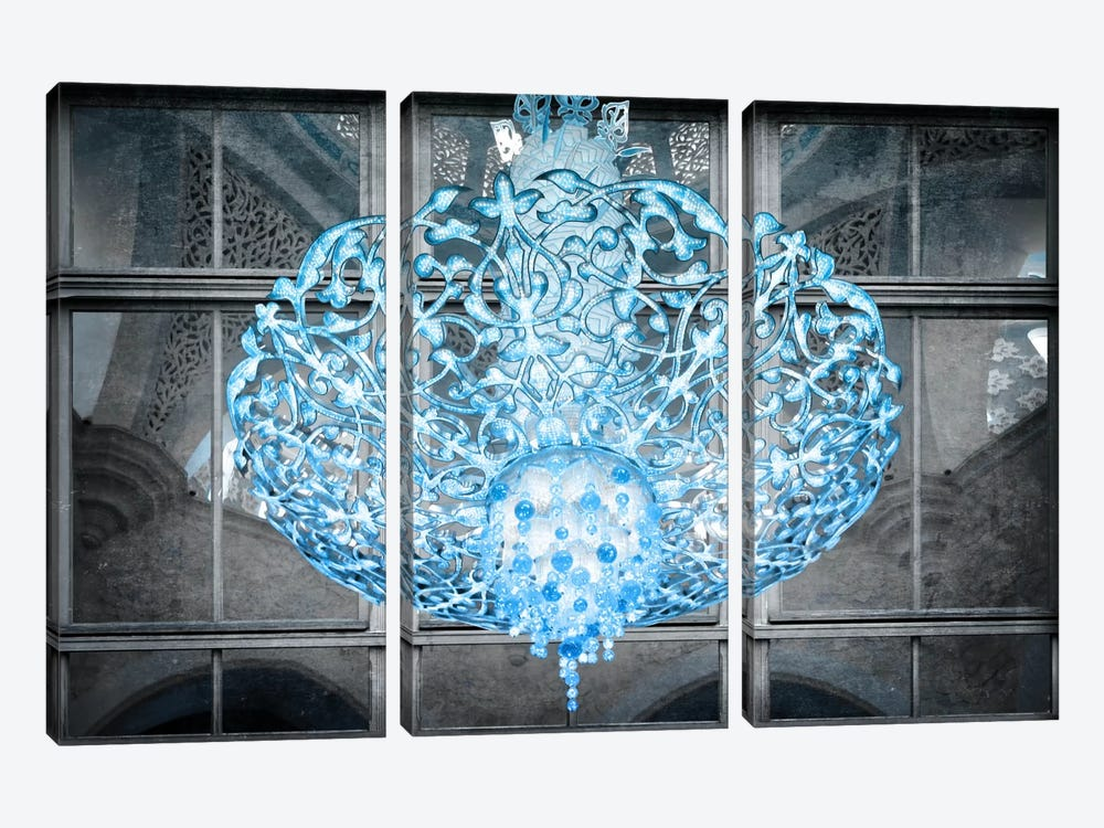 Ice Chandelier by Unknown Artist 3-piece Canvas Artwork