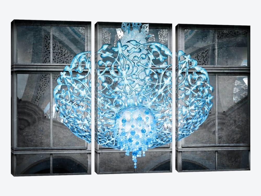 Ice Chandelier by Unknown Artist 3-piece Canvas Artwork