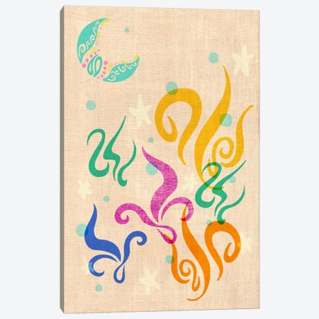 Floating in the Sea Canvas Print #ICA370} by Unknown Artist Canvas Wall Art