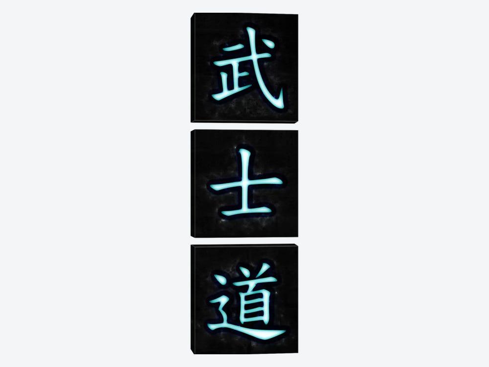 Bushido (Way of the Warrior) Neon by Unknown Artist 3-piece Art Print