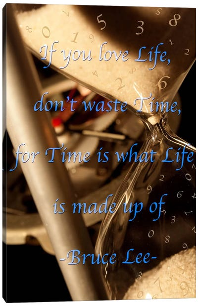 Time is Life Canvas Print #ICA381