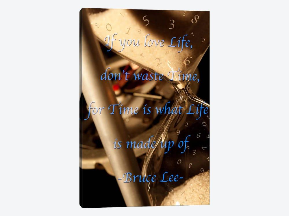 Time is Life by iCanvas 1-piece Art Print