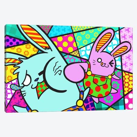 Bunny Misunderstanding Canvas Print #ICA382} by Unknown Artist Canvas Print