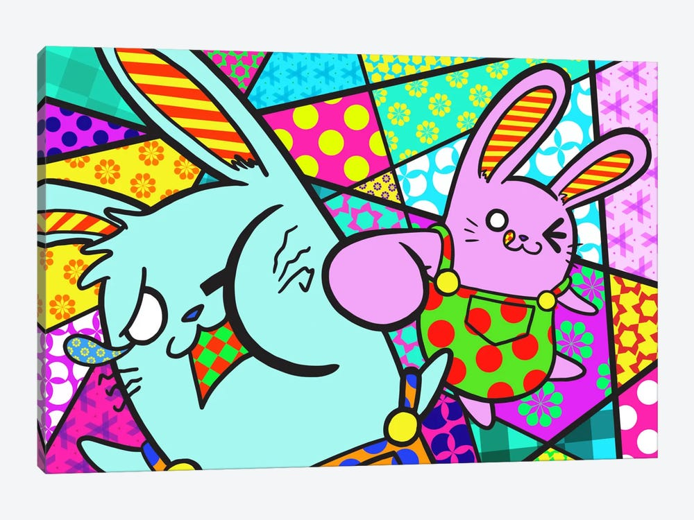 Bunny Misunderstanding by Unknown Artist 1-piece Canvas Wall Art