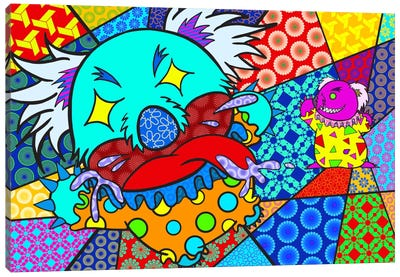 Clown Koala Canvas Print #ICA384