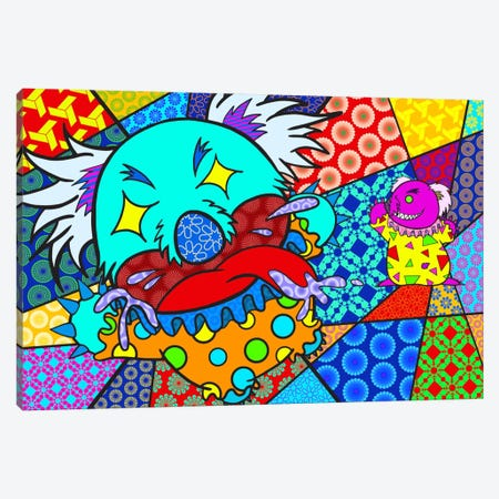 Clown Koala Canvas Print #ICA384} by Unknown Artist Canvas Wall Art
