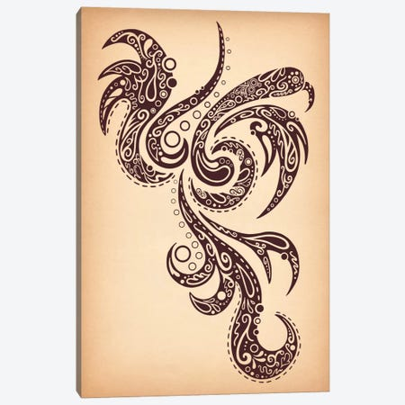 Strong Tribal Character Canvas Print #ICA390} by Unknown Artist Canvas Art