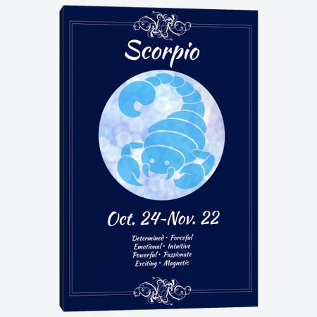 Scorpio Zodiac Canvas Print #ICA393} by Unknown Artist Canvas Artwork
