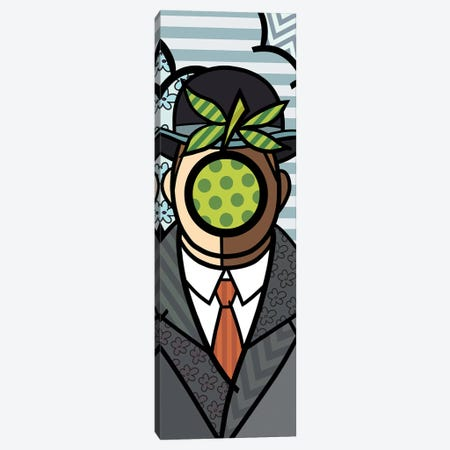 The Son of Man (After Rene Magritte) Canvas Print #ICA397} by 5by5collective Canvas Art Print