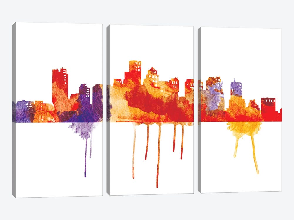Sunset Cityscape by iCanvas 3-piece Canvas Artwork