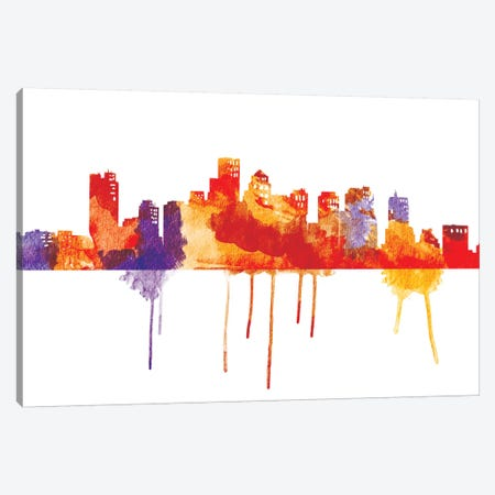 Sunset Cityscape Canvas Print #ICA39} by Unknown Artist Canvas Art