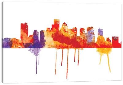 Sunset Cityscape Canvas Art Print