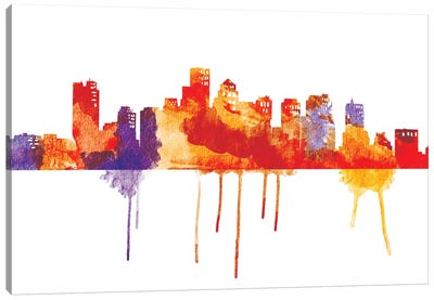Sunset Cityscape Canvas Art Print