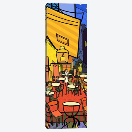 Cafe Terrace on the Place Du Forum (After Vincent Van Gogh) Canvas Print #ICA405} by 5by5collective Art Print