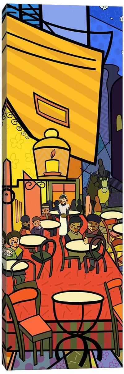Cafe Terrace on the Place Du Forum (After Vincent Van Gogh) Canvas Art Print