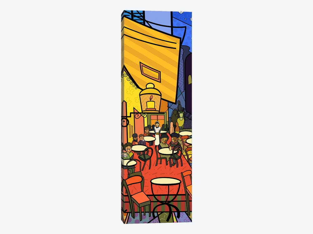 Cafe Terrace on the Place Du Forum (After Vincent Van Gogh) by 5by5collective 1-piece Canvas Art