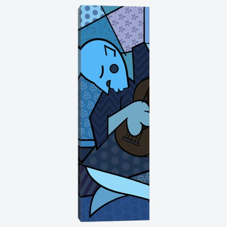 The Old Guitarist (After Pablo Picasso) Canvas Print #ICA408} by 5by5collective Canvas Art