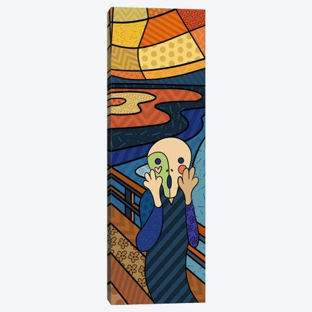 The Scream (After Edvard Munch) Canvas Print #ICA409} by 5by5collective Canvas Art