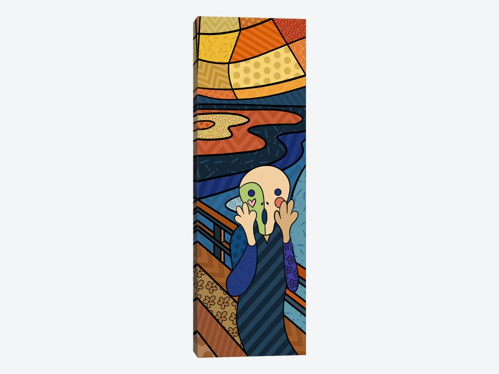 The Scream (After Edvard Munch) by 5by5collective 1-piece Canvas Art