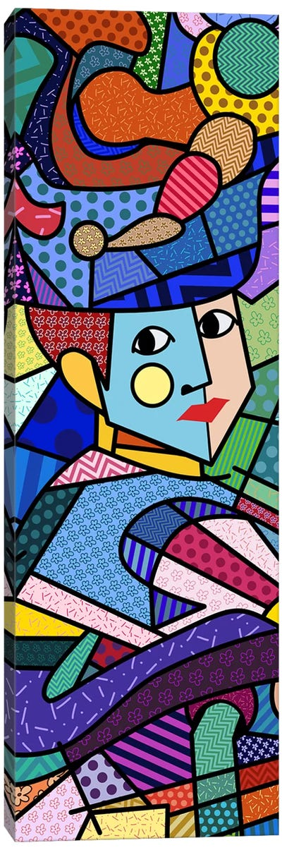 Woman With a Hat (After Henri Matisse) Canvas Print #ICA412