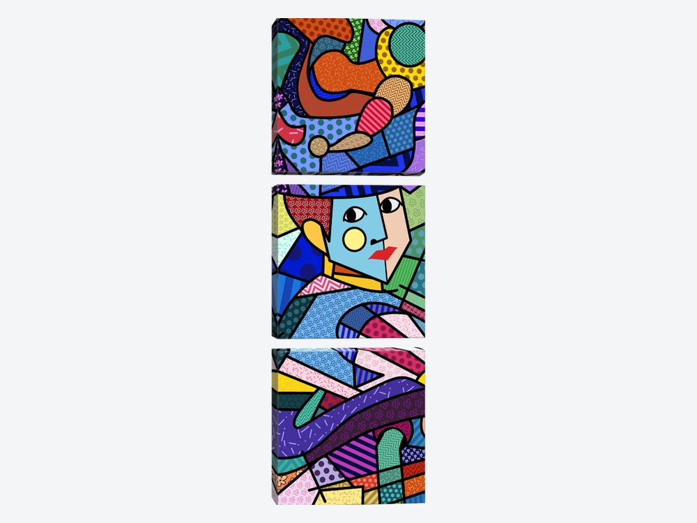 Woman With a Hat (After Henri Matisse) by 5by5collective 3-piece Canvas Wall Art