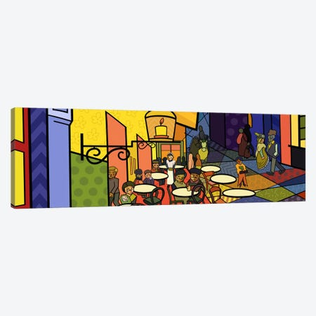 Cafe Terrace on the Place Du Forum 2 (After Vincent Van Gogh) Canvas Print #ICA414} by 5by5collective Canvas Artwork