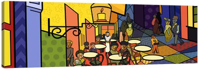 Cafe Terrace on the Place Du Forum 2 (After Vincent Van Gogh) Canvas Print #ICA414