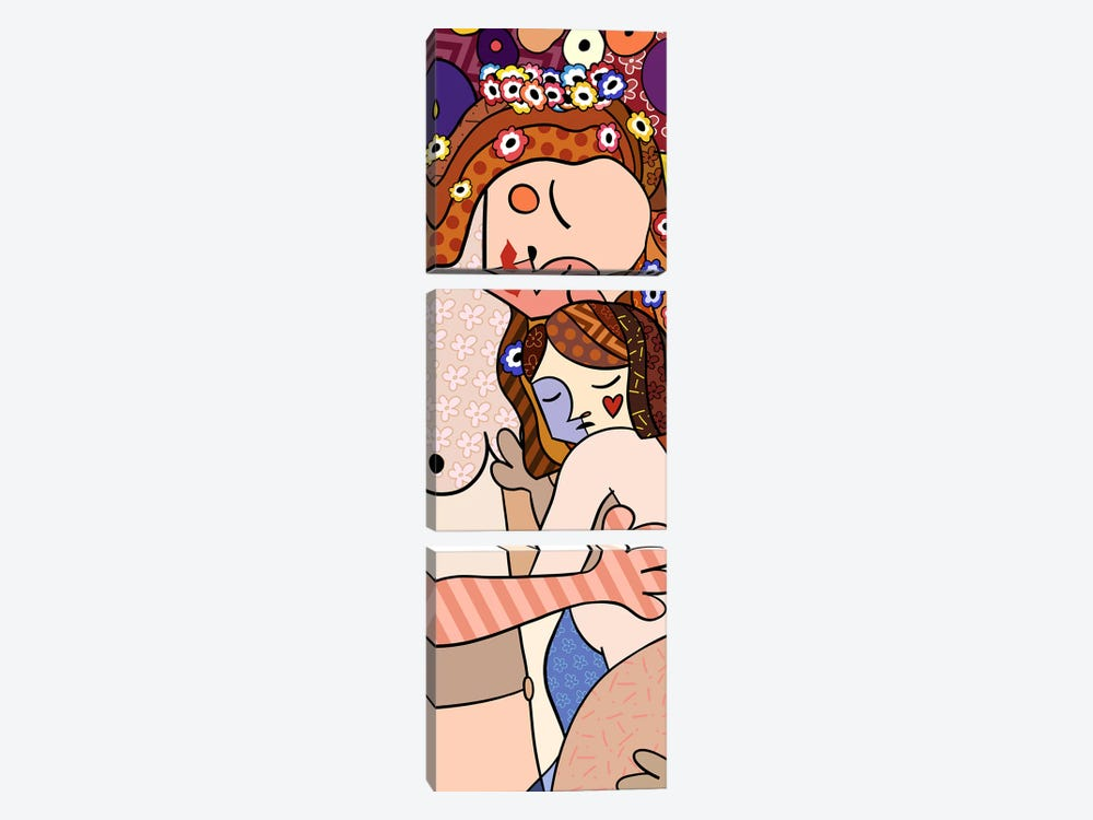Mother and Child (After Gustav Klimt) by 5by5collective 3-piece Canvas Print
