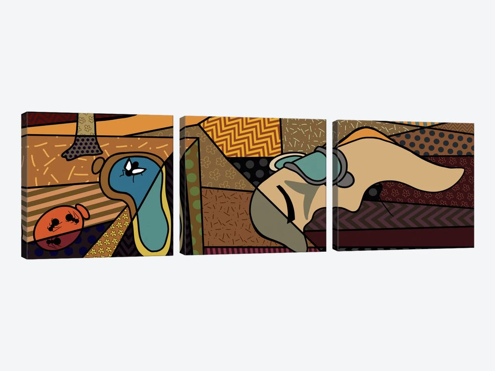 Persistence of Memory (After Salvador Dali) by 5by5collective 3-piece Canvas Art