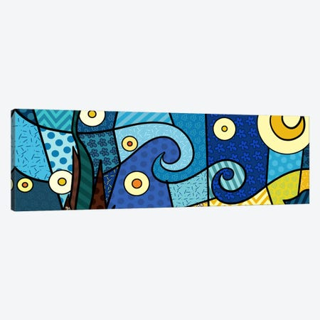 Starry Night (After Vincent Van Gogh) Canvas Print #ICA422} by 5by5collective Canvas Art