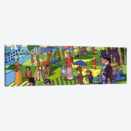 Sunday Afternoon on the Island of La Grande Jatte (After Georges-Pierre Seurat) Canvas Print #ICA423} by 5by5collective Canvas Wall Art