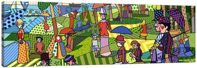 Sunday Afternoon on the Island of La Grande Jatte (After Georges-Pierre Seurat) Canvas Print #ICA423