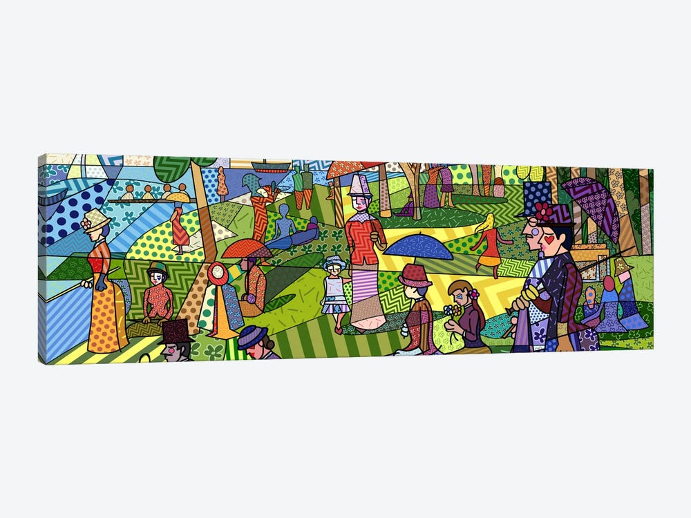 Sunday Afternoon on the Island of La Grande Jatte (After Georges-Pierre Seurat) by 5by5collective 1-piece Canvas Artwork