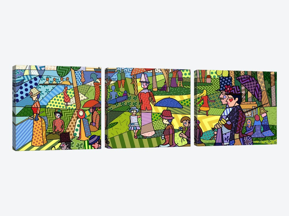 Sunday Afternoon on the Island of La Grande Jatte (After Georges-Pierre Seurat) by 5by5collective 3-piece Canvas Art