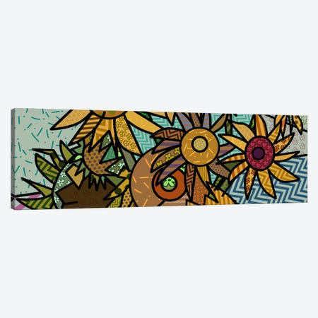 Sunflowers (After Vincent Van Gogh) Canvas Print #ICA424} by 5by5collective Canvas Art Print