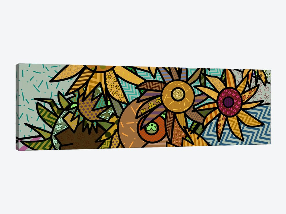 Sunflowers (After Vincent Van Gogh) by 5by5collective 1-piece Canvas Art Print