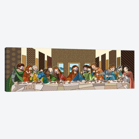 The Last Supper (After Leonardo Da Vinci) Canvas Print #ICA427} by 5by5collective Art Print