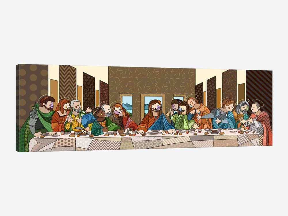 The Last Supper (After Leonardo Da Vinci) by 5by5collective 1-piece Canvas Wall Art