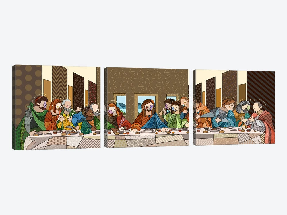 The Last Supper (After Leonardo Da Vinci) by 5by5collective 3-piece Canvas Artwork