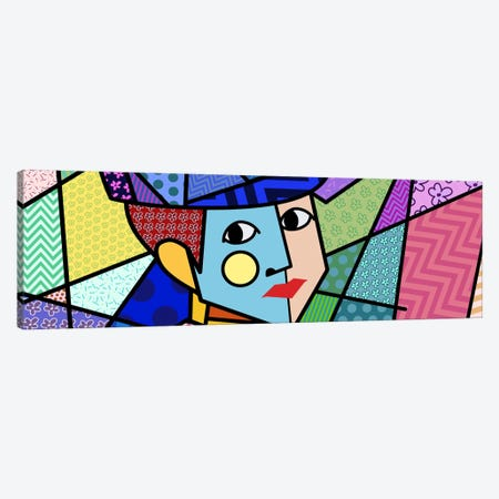 Woman With a Hat 2 (After Henri Matisse) Canvas Print #ICA434} by 5by5collective Canvas Art