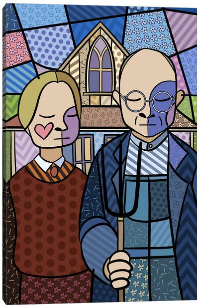 American Gothic 2 (After Grant Wood) Canvas Art Print