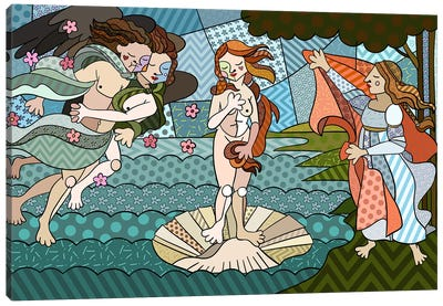 The Birth of Venus 2 (After Sandro Botticelli) Canvas Art Print