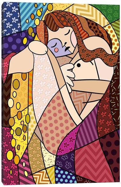 Danae 3 (After Gustav Klimt) Canvas Art Print