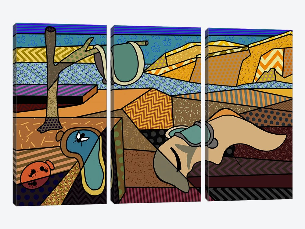 Persistence of Memory 2 (After Salvador Dali) by 5by5collective 3-piece Canvas Art