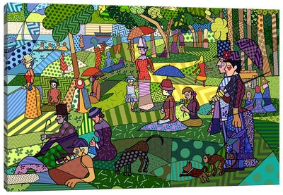 Sunday Afternoon on the Island of La Grande Jatte 2 (After Georges-Pierre Seurat) Canvas Print #ICA442