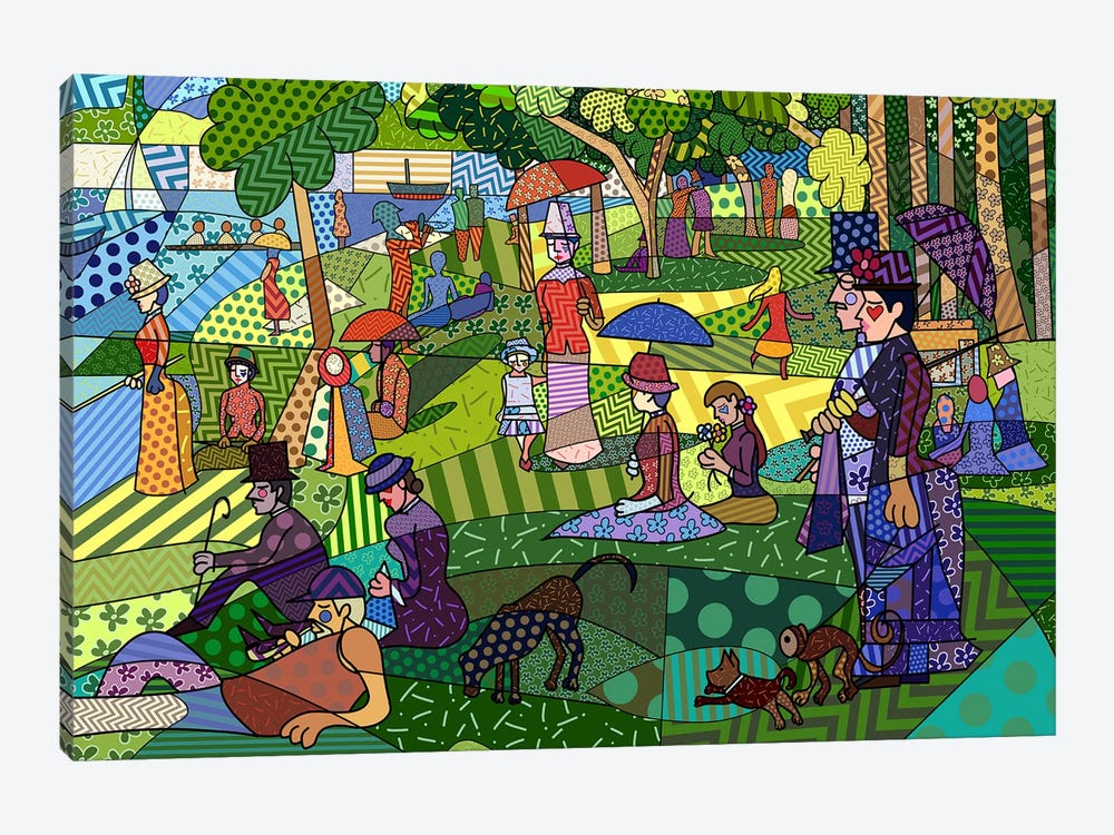Sunday Afternoon on the Island of La Grande Jatte 2 (After Georges-Pierre Seurat) by 5by5collective 1-piece Canvas Art Print